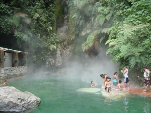 Fuentes Georginas, Quetzaltenango, hot water springs, typical hydrothermal fenomena
